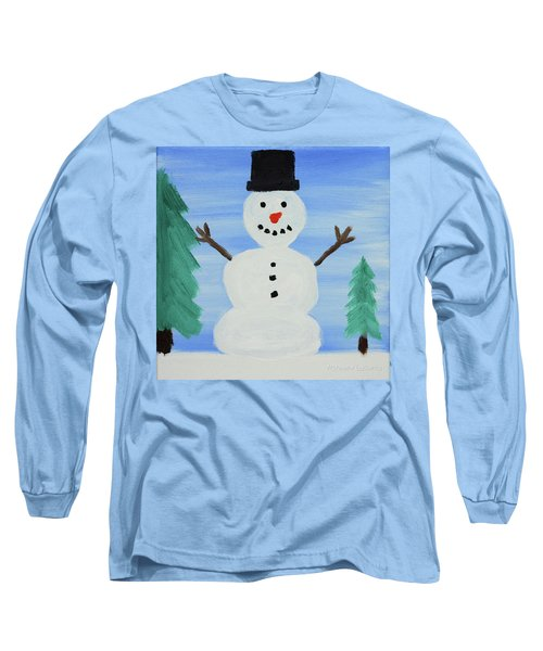 Snowman Long Sleeve T-Shirt by Anthony LaRocca