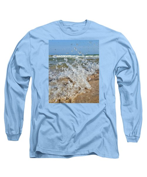 Long Sleeve T-Shirt featuring the photograph Splash by Nikki McInnes