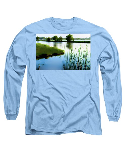 Long Sleeve T-Shirt featuring the mixed media Summer Dreams by Betty LaRue