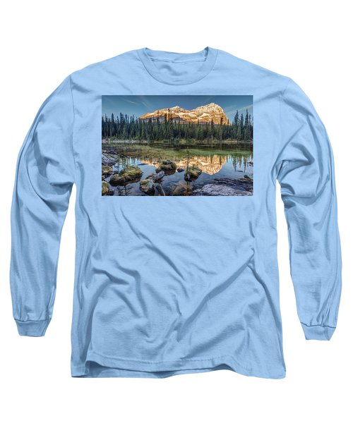Sunrise In The Rocky Mountains Long Sleeve T-Shirt by Pierre Leclerc Photography