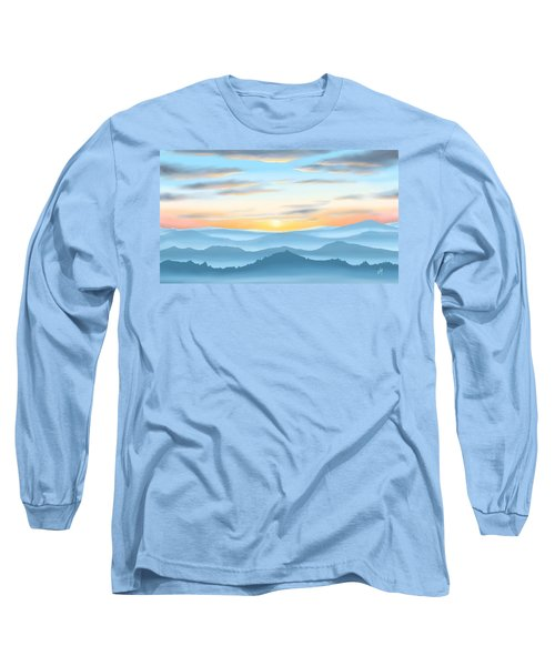 Long Sleeve T-Shirt featuring the painting Sunrise by Veronica Minozzi