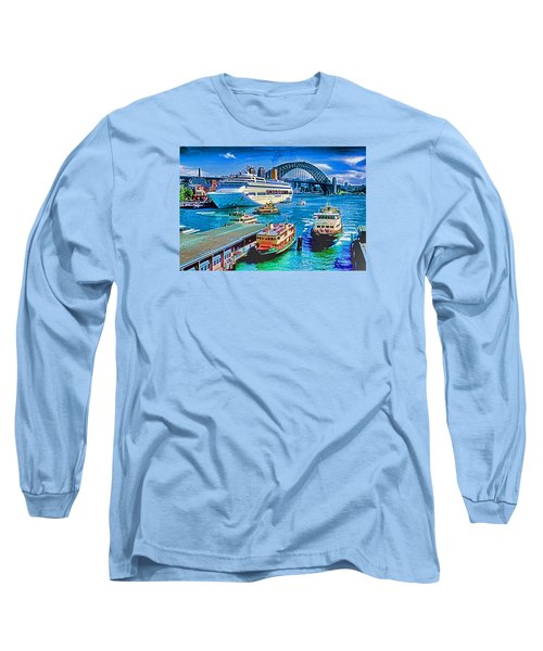 Long Sleeve T-Shirt featuring the photograph Sydney Quay by Dennis Cox WorldViews