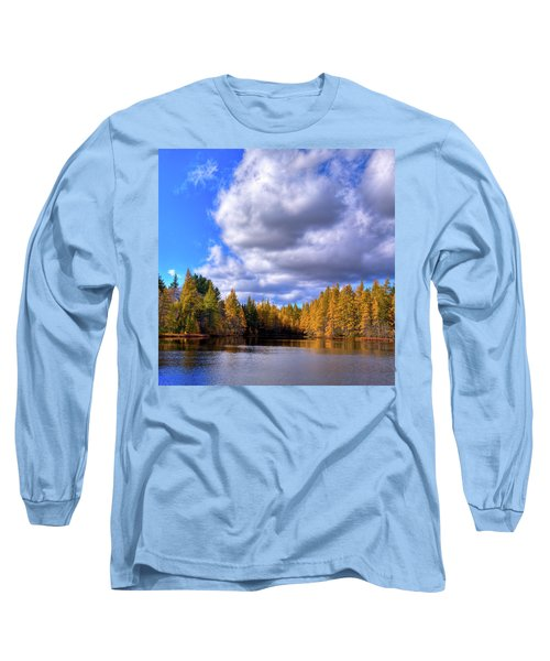 Long Sleeve T-Shirt featuring the photograph Tamaracks At Woodcraft Camp by David Patterson