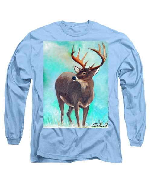 the Buck Stops Here Long Sleeve T-Shirt by Sherril Porter