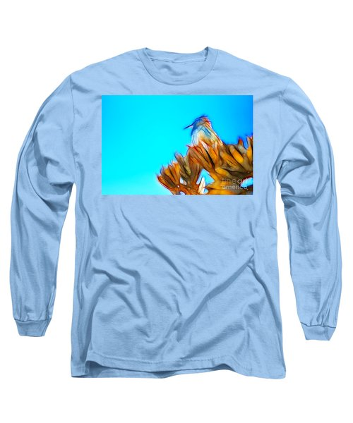 The Cactus Wren Long Sleeve T-Shirt by Donna Greene