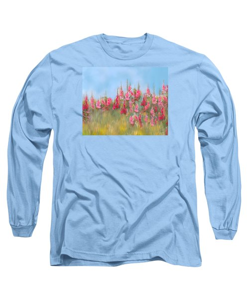 The Earth Laughs In Flowers Long Sleeve T-Shirt by Colleen Taylor