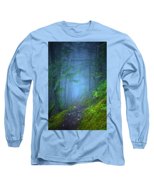 Long Sleeve T-Shirt featuring the photograph The Forest Blues by Tara Turner