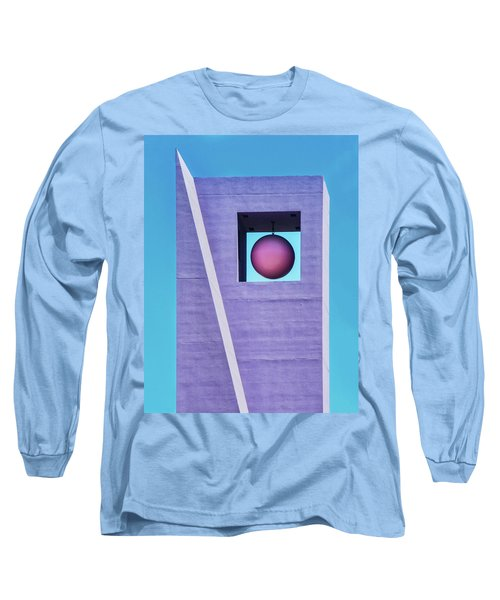 The Purple Tower At Pershing Square Long Sleeve T-Shirt by Gary Slawsky