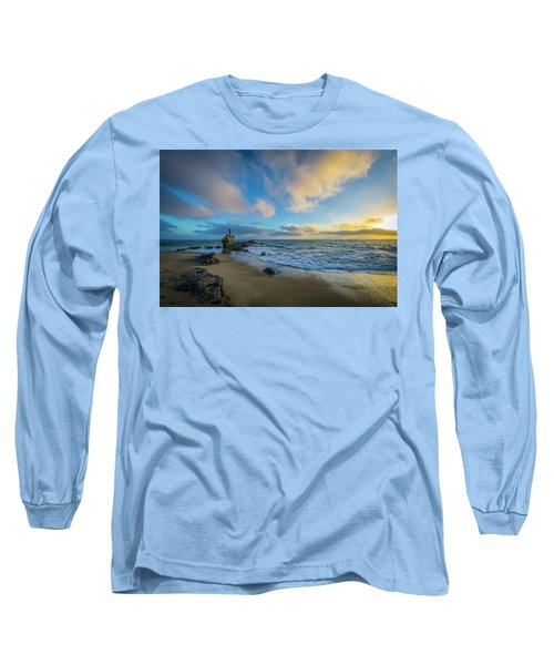 The Woman And Sea Long Sleeve T-Shirt by Sean Foster
