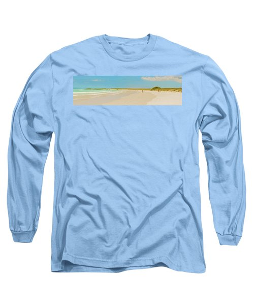 Tortuga Bay Beach At Santa Cruz Island In Galapagos  Long Sleeve T-Shirt by Marek Poplawski