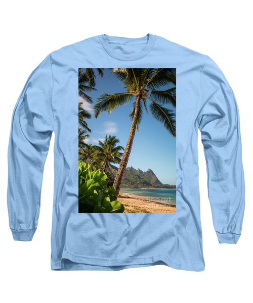 Tunnels Beach Haena Kauai Hawaii Bali Hai Long Sleeve T-Shirt
