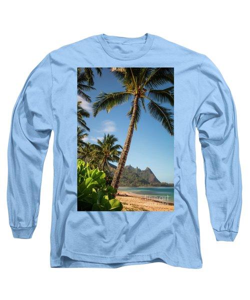 Tunnels Beach Haena Kauai Hawaii Bali Hai Long Sleeve T-Shirt
