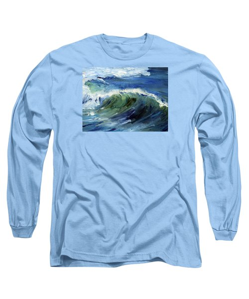Wave Action Long Sleeve T-Shirt by Michael Helfen