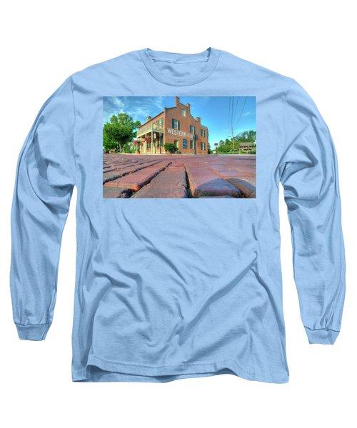 Western House Long Sleeve T-Shirt by Steve Stuller