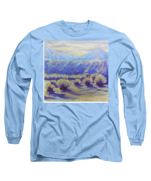 Winter Morning Riverbend Long Sleeve T-Shirt by Becky Chappell