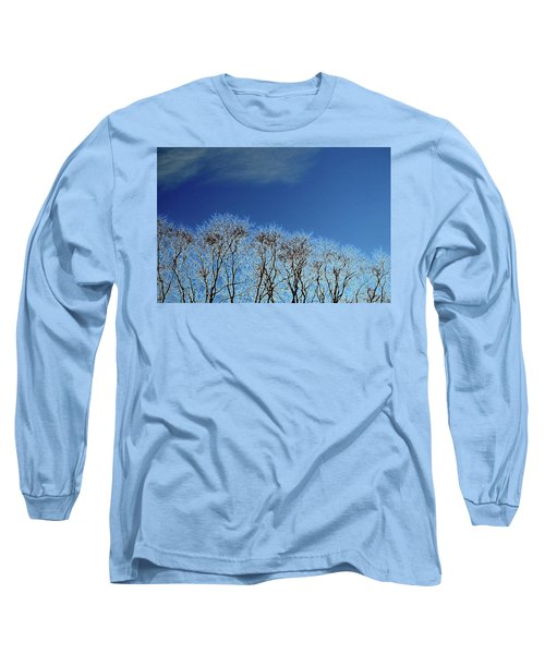 Winter Trees And Sky 3  Long Sleeve T-Shirt by Lyle Crump