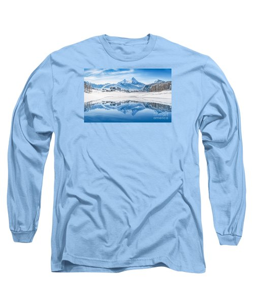 Winter Wonderland In The Alps Long Sleeve T-Shirt by JR Photography