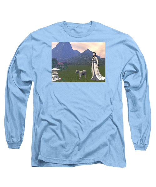 Year Of The Sheep Long Sleeve T-Shirt by Michele Wilson