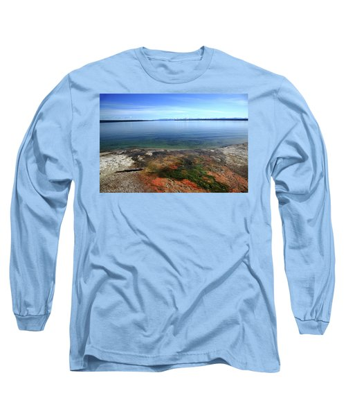 Long Sleeve T-Shirt featuring the photograph Yellowstone Lake Colors by Frank Romeo
