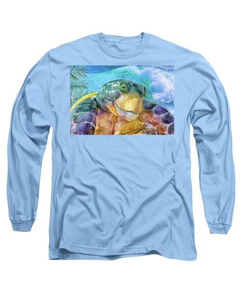 10730 Mr Tortoise Long Sleeve T-Shirt by Pamela Williams