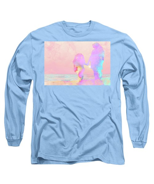 10876 Sunset With Mom Long Sleeve T-Shirt by Pamela Williams