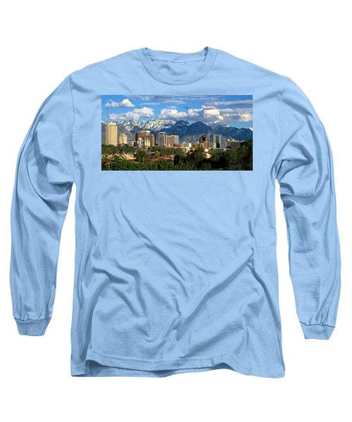 Salt Lake City Skyline Long Sleeve T-Shirt