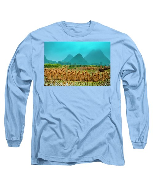 Beautiful Countryside Scenery In Autumn Long Sleeve T-Shirt