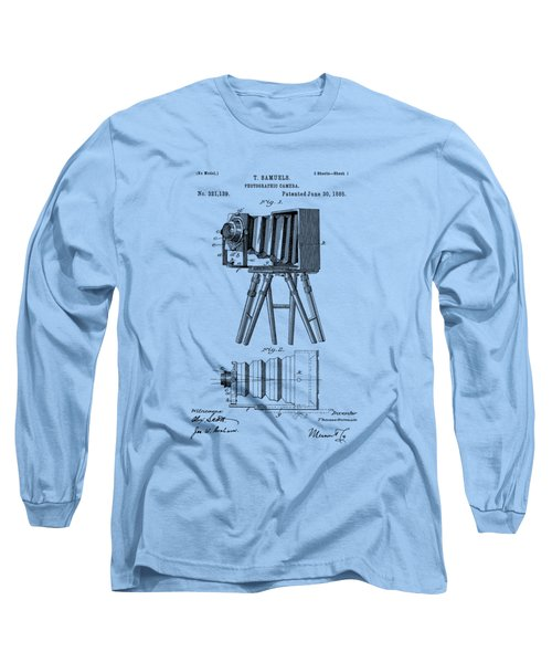 1885 View Camera Patent  Long Sleeve T-Shirt by Barry Jones