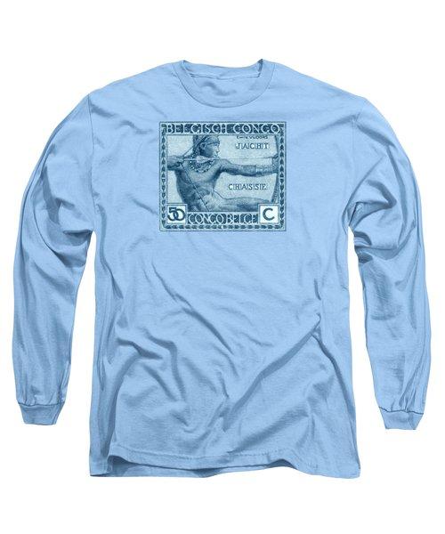 1923 Belgian Congo Native Hunting Long Sleeve T-Shirt