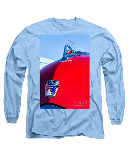 Long Sleeve T-Shirt featuring the photograph 1950 Ford Hood Ornament by Aloha Art