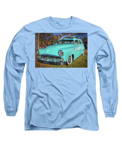 1951 Plymouth Suburban 2 Door Station Wagon 001 Long Sleeve T-Shirt by Rich Franco