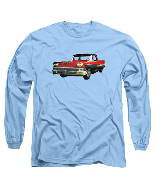 1958 Ford Ranchero Watercolour Long Sleeve T-Shirt