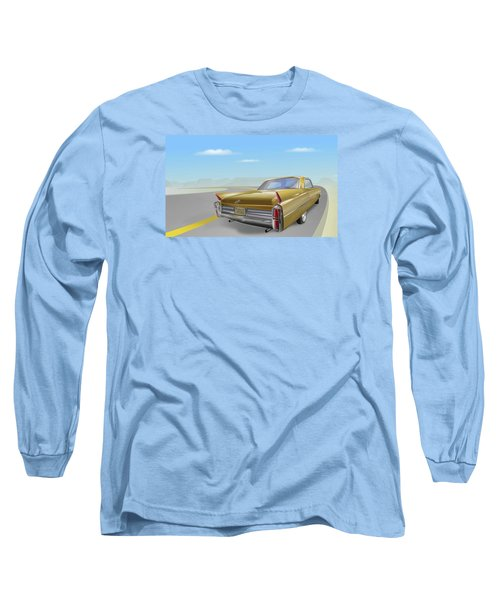 1963 Cadillac De Ville Long Sleeve T-Shirt by Marty Garland