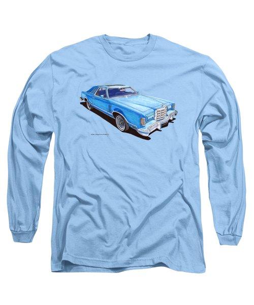 Long Sleeve T-Shirt featuring the painting 1979 Thunderbird Tee Shirt Art by Jack Pumphrey