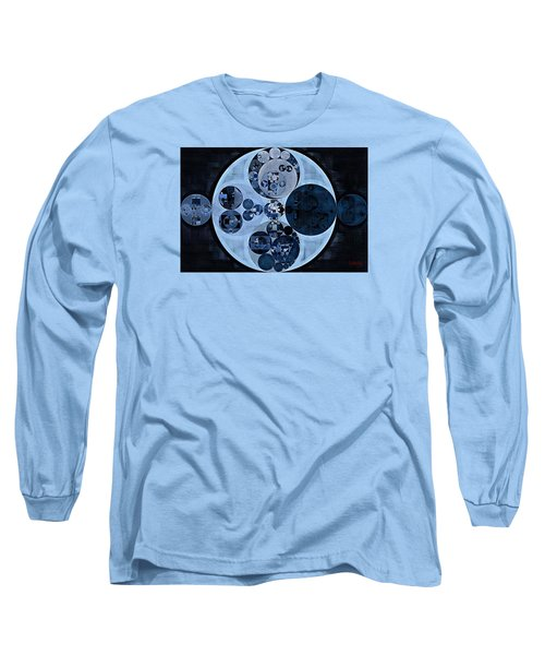 Long Sleeve T-Shirt featuring the digital art Abstract Painting - Polo Blue by Vitaliy Gladkiy