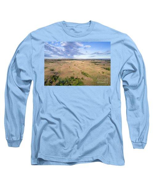 aerial view of Nebraska Sandhills  Long Sleeve T-Shirt