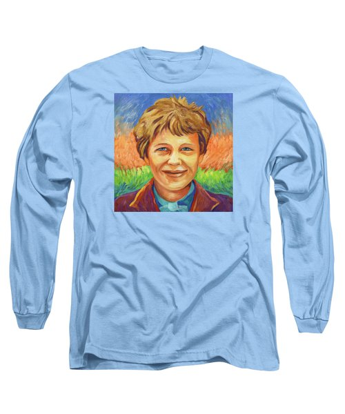 Amelia Earhart Portrait Long Sleeve T-Shirt