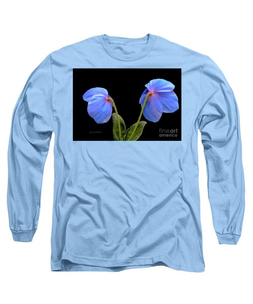 Blue Poppies Long Sleeve T-Shirt by Jeannie Rhode