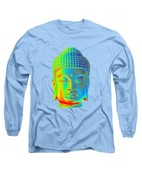 colorful Buddha - Korean Long Sleeve T-Shirt by Terrell Kaucher