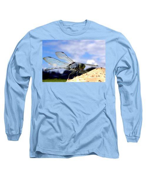 Dragonfly On A Mushroom 001  Long Sleeve T-Shirt