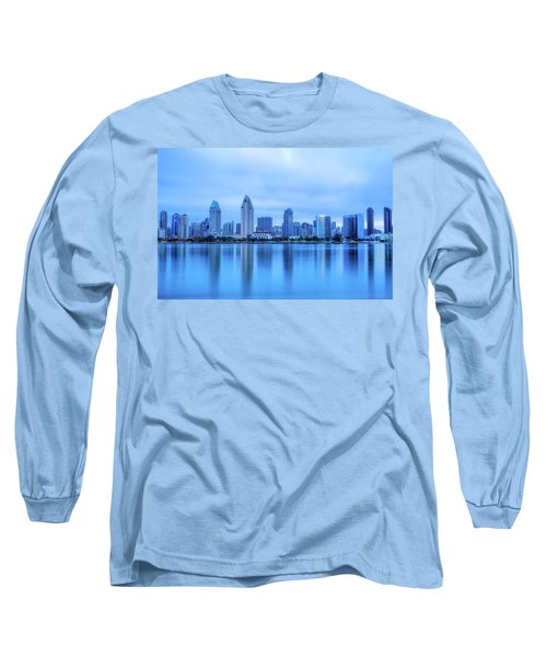Feeling Blue Long Sleeve T-Shirt by Joseph S Giacalone