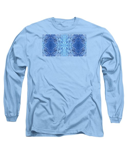 Frost Feathers Long Sleeve T-Shirt by Marianne Dow