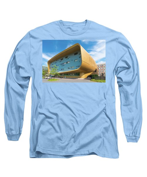 Modern Building Long Sleeve T-Shirt by Hans Engbers