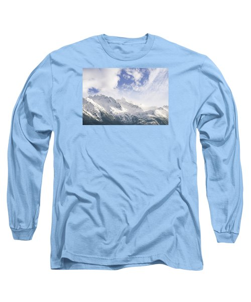 Long Sleeve T-Shirt featuring the photograph Mountains And Clouds by Michele Cornelius