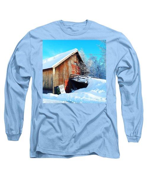 Norwegian Winter Landscape  Long Sleeve T-Shirt
