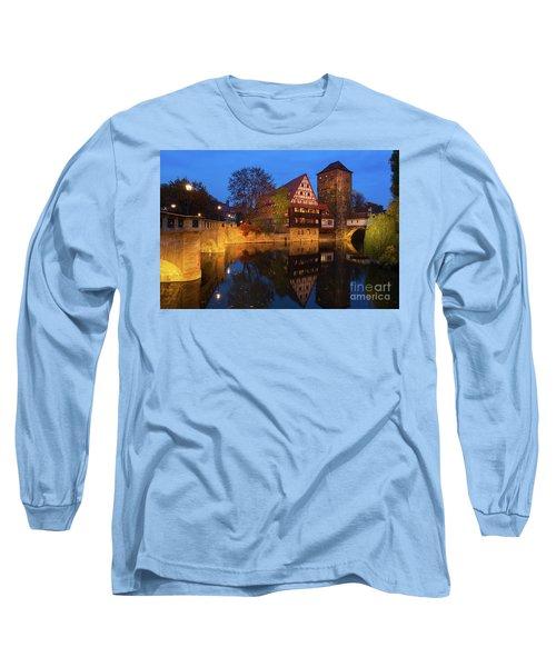 Nuremberg At Night Long Sleeve T-Shirt