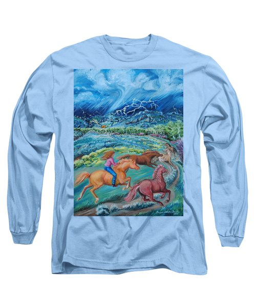 Racing The Lightning Home Long Sleeve T-Shirt