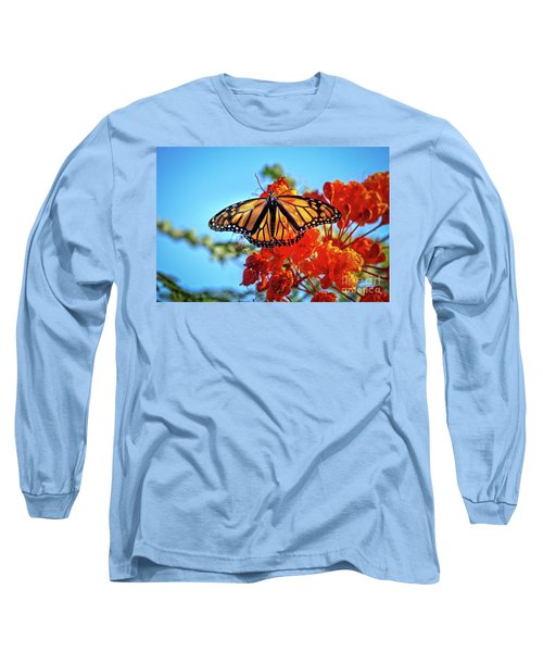 Long Sleeve T-Shirt featuring the photograph The Resting Monarch by Robert Bales