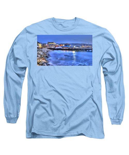 Redondo Landing At Night Long Sleeve T-Shirt by Richard J Cassato