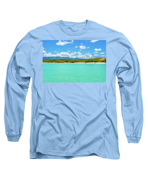 Tortuga Bay Beach At Santa Cruz Island In Galapagos  Long Sleeve T-Shirt